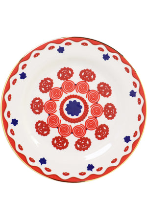 MIKI DESSERT PLATES SET OF 2 RED