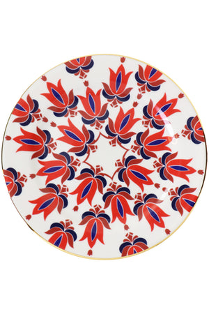 TINA DESSERT PLATES SET OF 2 RED
