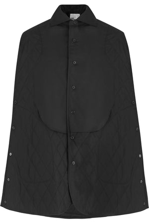 NOIR QUILTED COAT BLACK