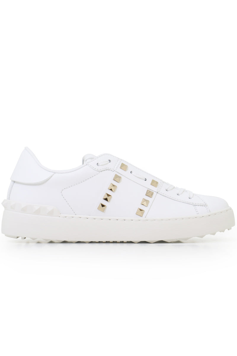 ROCKSTUD UNTITLED OPEN SNEAKER WHITE/GOLD