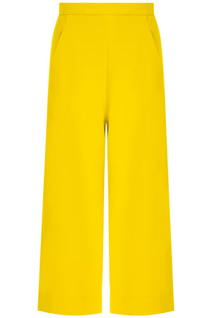 TISSUE WIDE LEG CULOTTE SUNFLOWER
