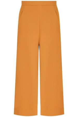 TISSUE WIDE LEG CULOTTE EARTH