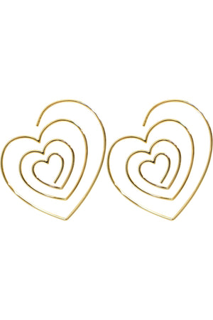 HEART SPIRAL EARRINGS GOLD
