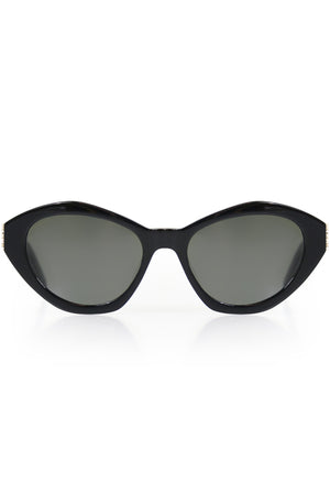 M60 OVAL SUNGLASSES BLACK