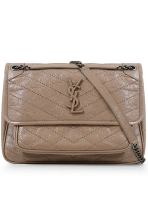 NIKI MEDIUM QUILTED BAG GOLD SAND
