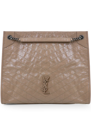 NIKI LARGE QUILTED TOTE BAG GOLD SAND