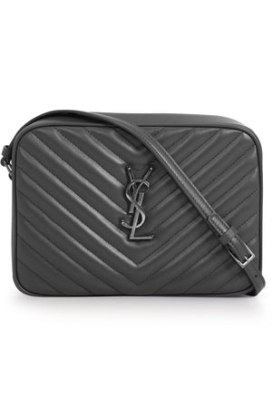 LOU QUILTED CAMERA BAG ASPHALT/SILVER