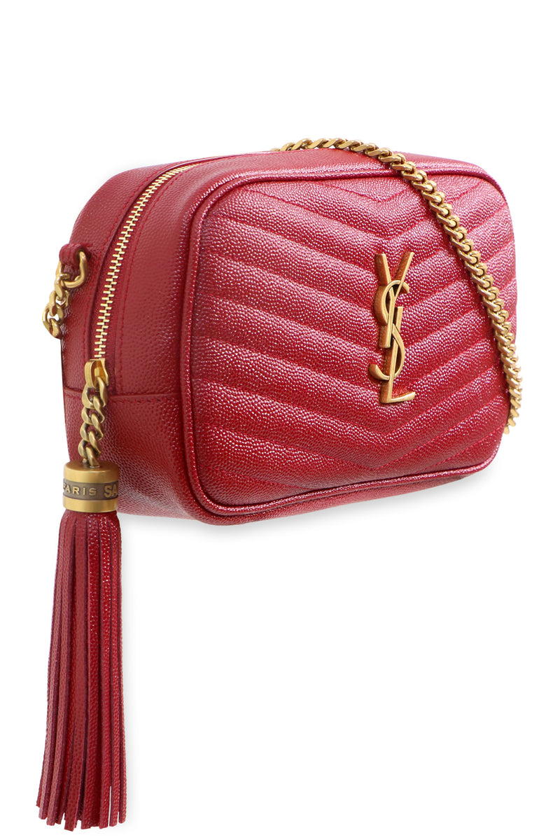 LOU MINI QUILTED CAMERA BAG OPYUM RED/GOLD