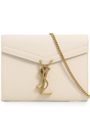 CASSANDRA WALLET ON CHAIN BLANC VINTAGE/GOLD