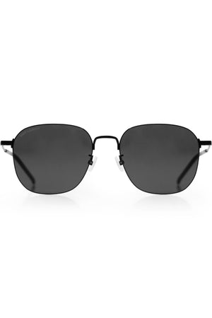 388 SQUARE AVIATOR SUNGLASSES BLACK