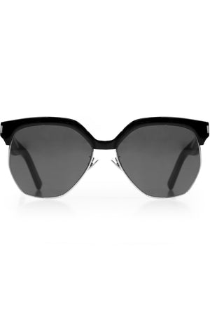 408 HEXAGONAL SUNGLASSES BLACK
