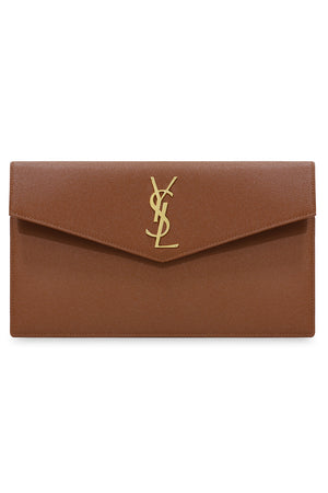 UPTOWN POUCH GRAINED LEATHER BRICK