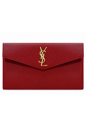 UPTOWN POUCH GRAINED LEATHER RED
