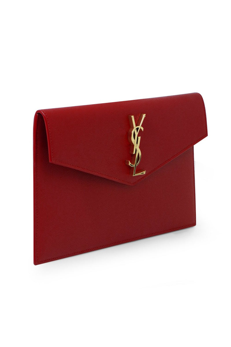 UPTOWN POUCH GRAINED LEATHER OPYUM RED/GOLD