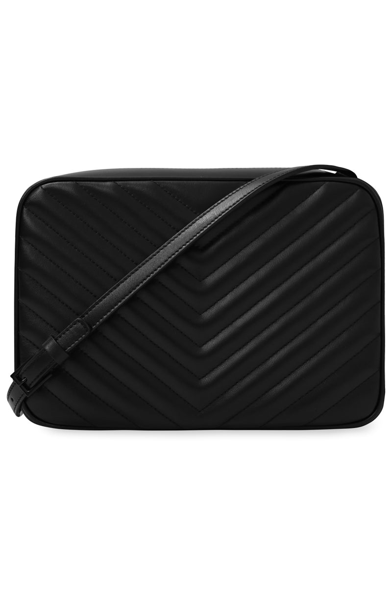LOU QUILTED CAMERA BAG BLACK/BLACK