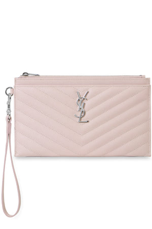 MONOGRAMME WRISTLET POUCH MARBLE PINK/SILVER