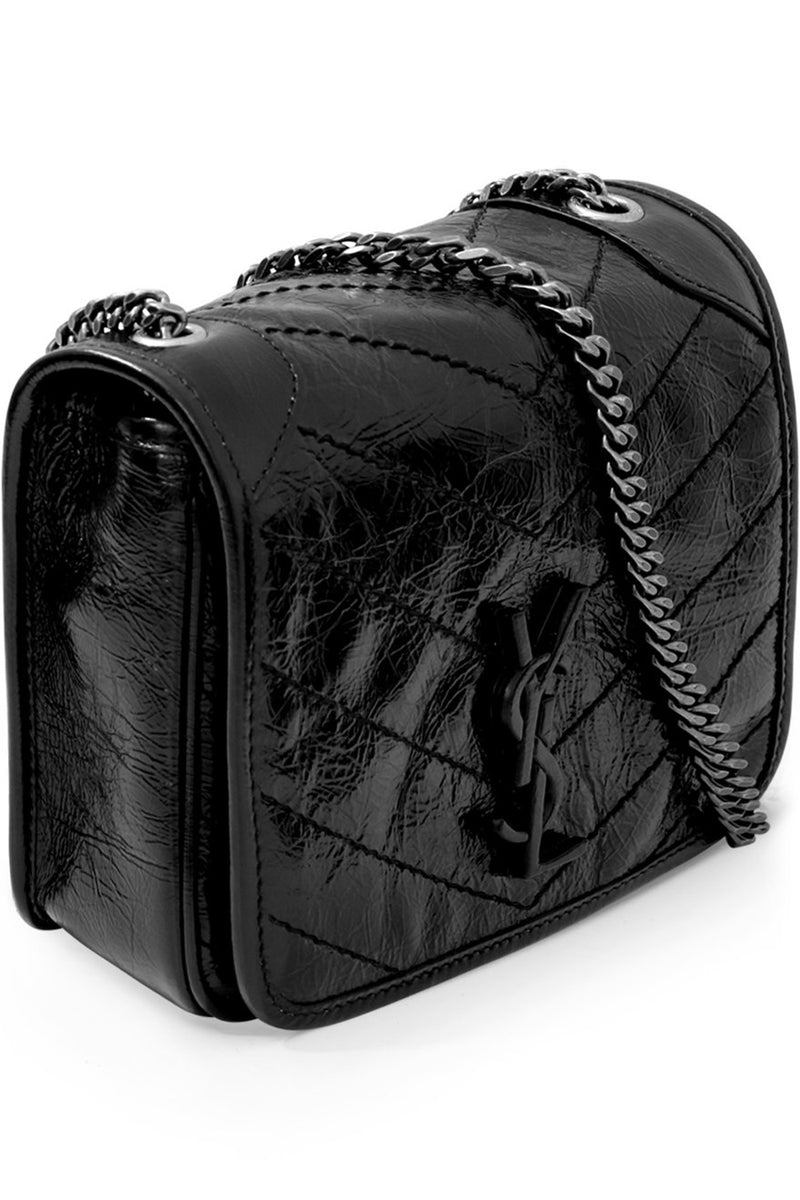 NIKI SMALL QUILTED BAG BLACK/CHROME