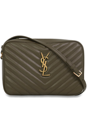LOU QUILTED CAMERA BAG SEAWEED/GOLD