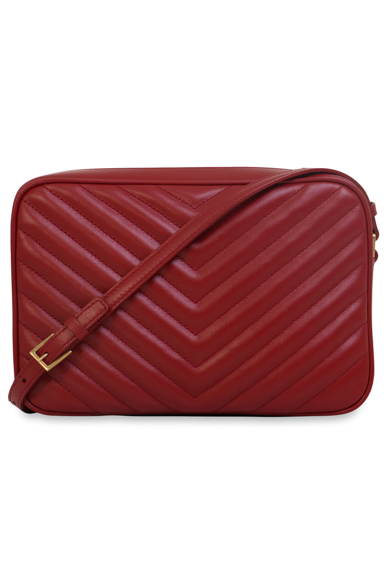 LOU QUILTED CAMERA BAG OPYUM RED/GOLD