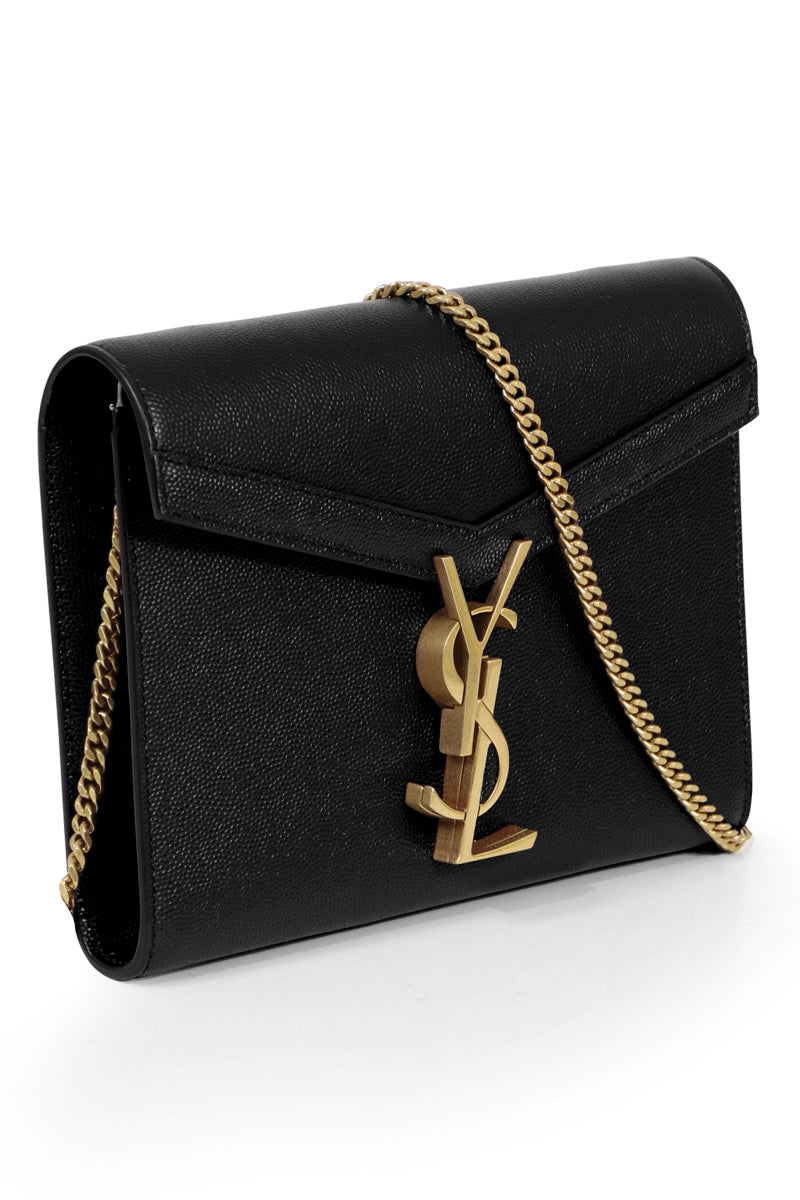 CASSANDRA WALLET ON CHAIN BLACK/GOLD