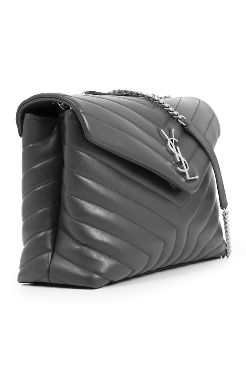 LOULOU SMALL FLAP BAG STORM/SILVER