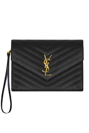MONOGRAMME QUILTED CLUTCH BLACK/GOLD