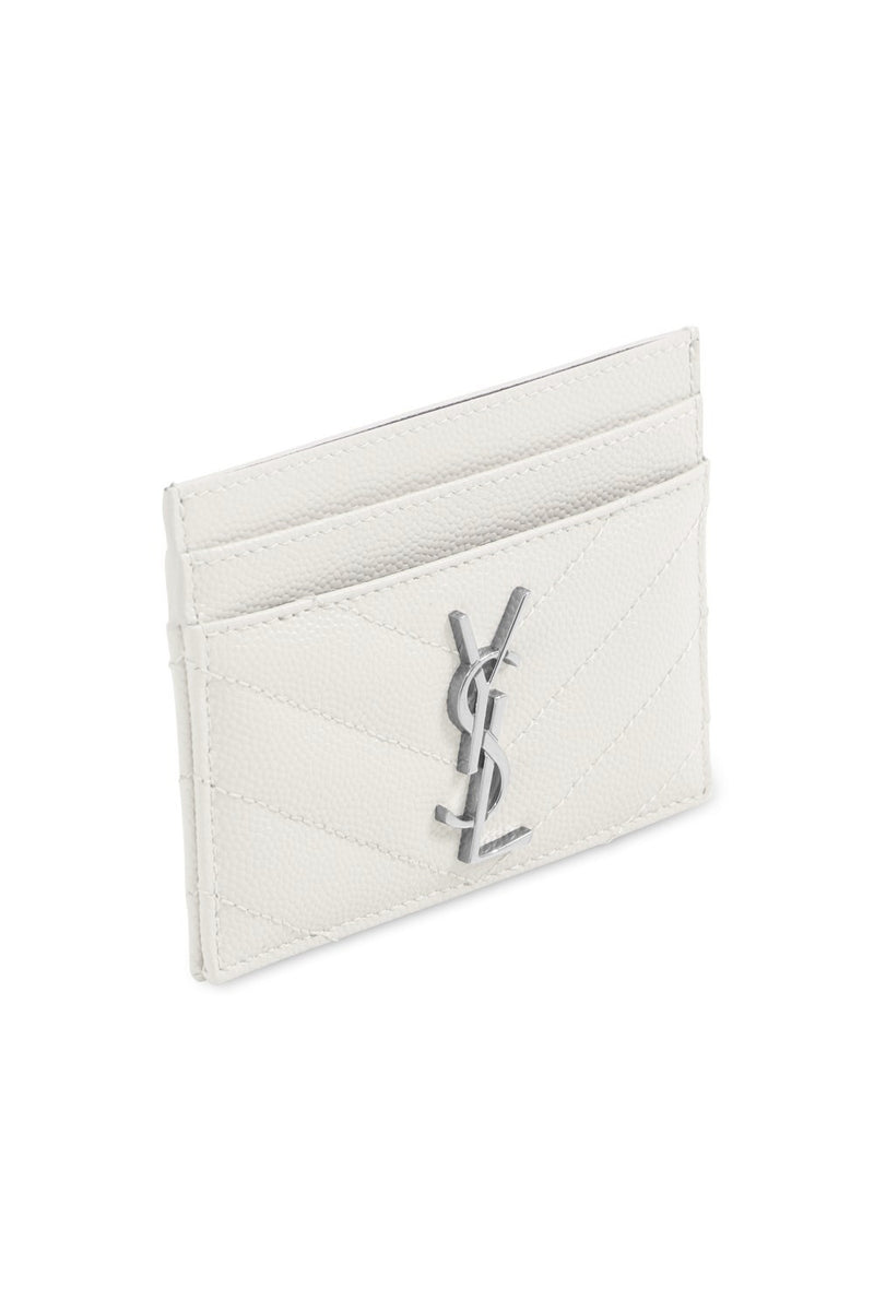 MONOGRAMME QUILTED CARDHOLDER CREMA SOFT/SILVER