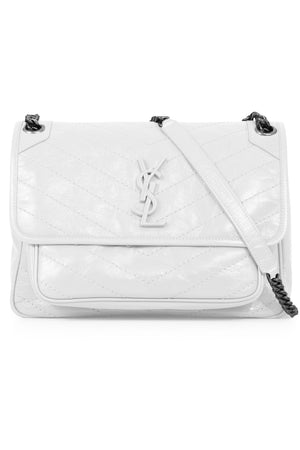 NIKI MEDIUM QUILTED BAG DIRTY WHITE