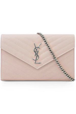MONOGRAMME QUILTED CHAIN WALLET MARBLE PINK/SILVER