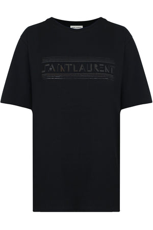 SAINT LAURENT LOGO T-SHIRT BLACK