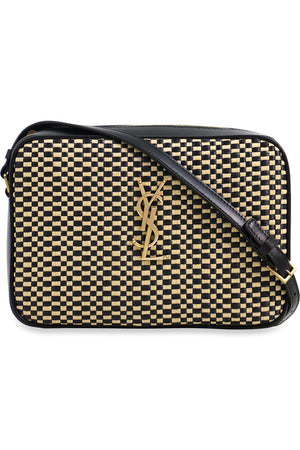 RAFFIA LOU CAMERA BAG NATURAL/BLACK