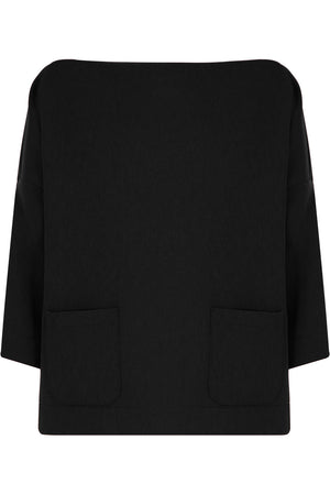 TISSUE SWING TOP WITH POCKETS 3/4SL BLACK