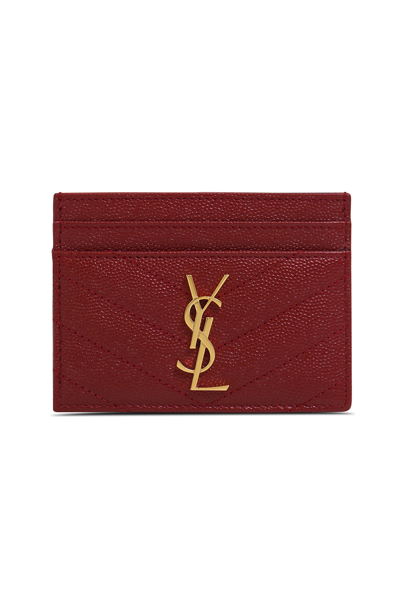 MONOGRAMME QUILTED CARDHOLDER OPYUM RED/GOLD