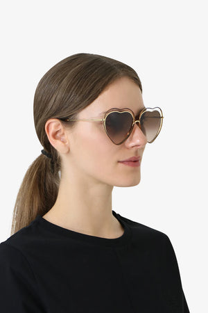 POPPY HEART SUNGLASSES HAVANA BROWN
