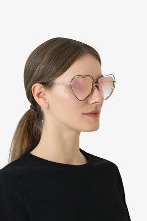 POPPY HEART SUNGLASSES HAVANA PEACH