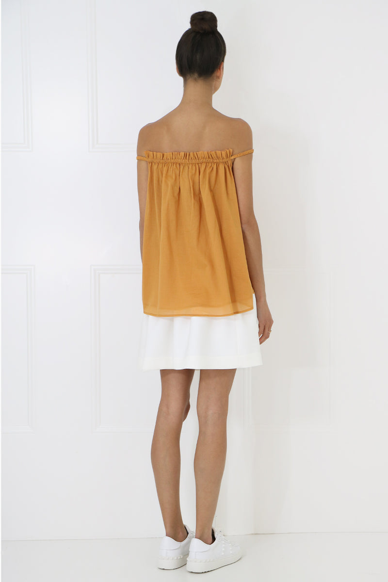 MARTHA OFF THE SHOULDER BLOUSE CUMIN