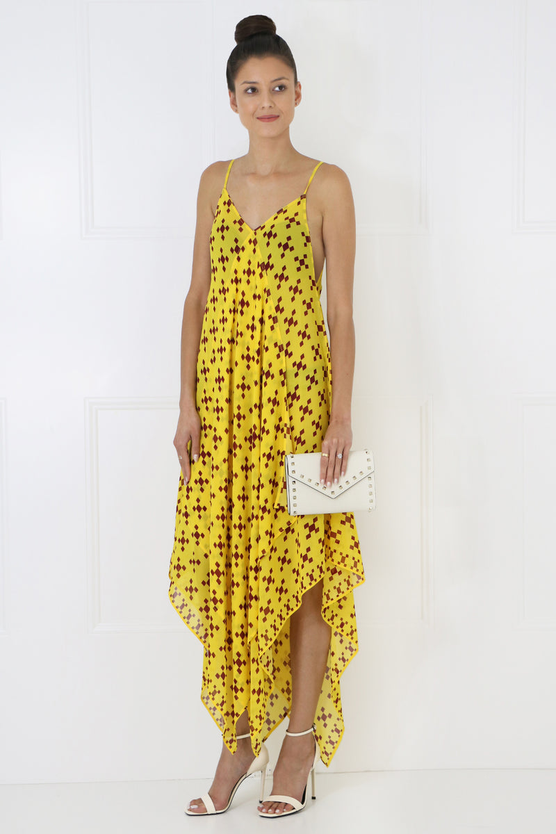 SALLY SCARF DRESS S/LESS ZEPHIRE YELLOW