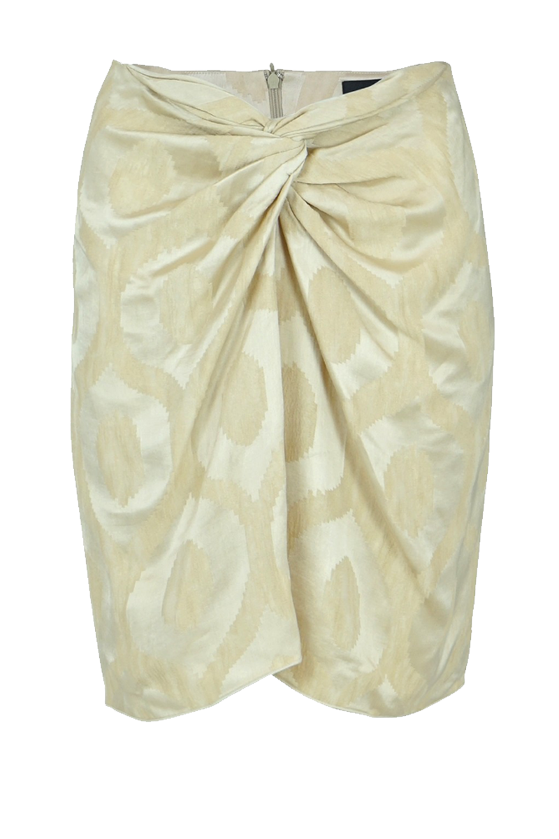 SOPHY KNOT SKIRT ECRU