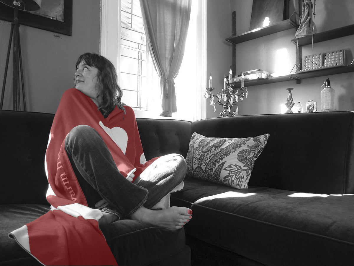Online Sample Sale & new* Lovely Red Warm Hug Blankets!