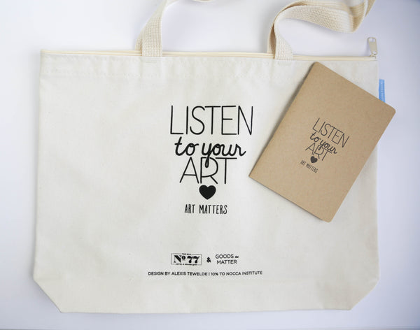 Listen to your Art - Letterpress Journal & Tote that gives back to NOCCA