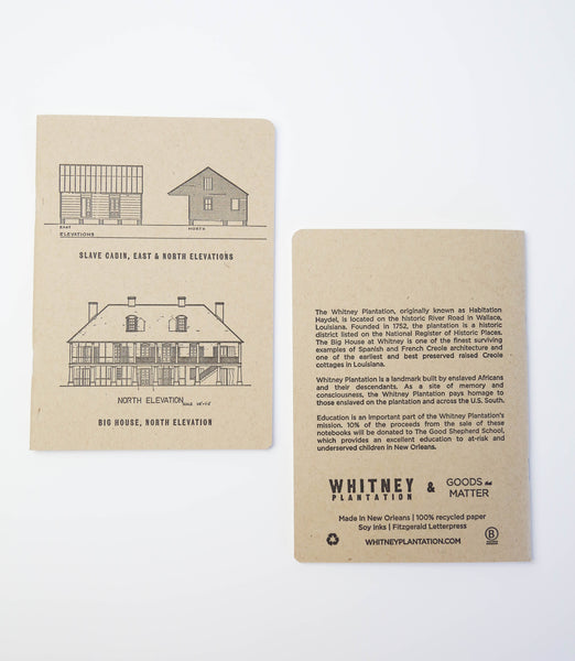 Whitney Plantation, Louisiana, Custom Notebook made for gift shop