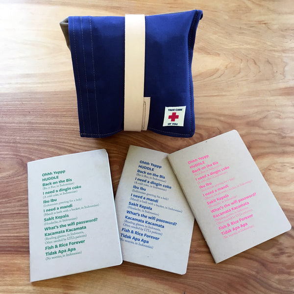 Canvas custom First aid kit and custom journals