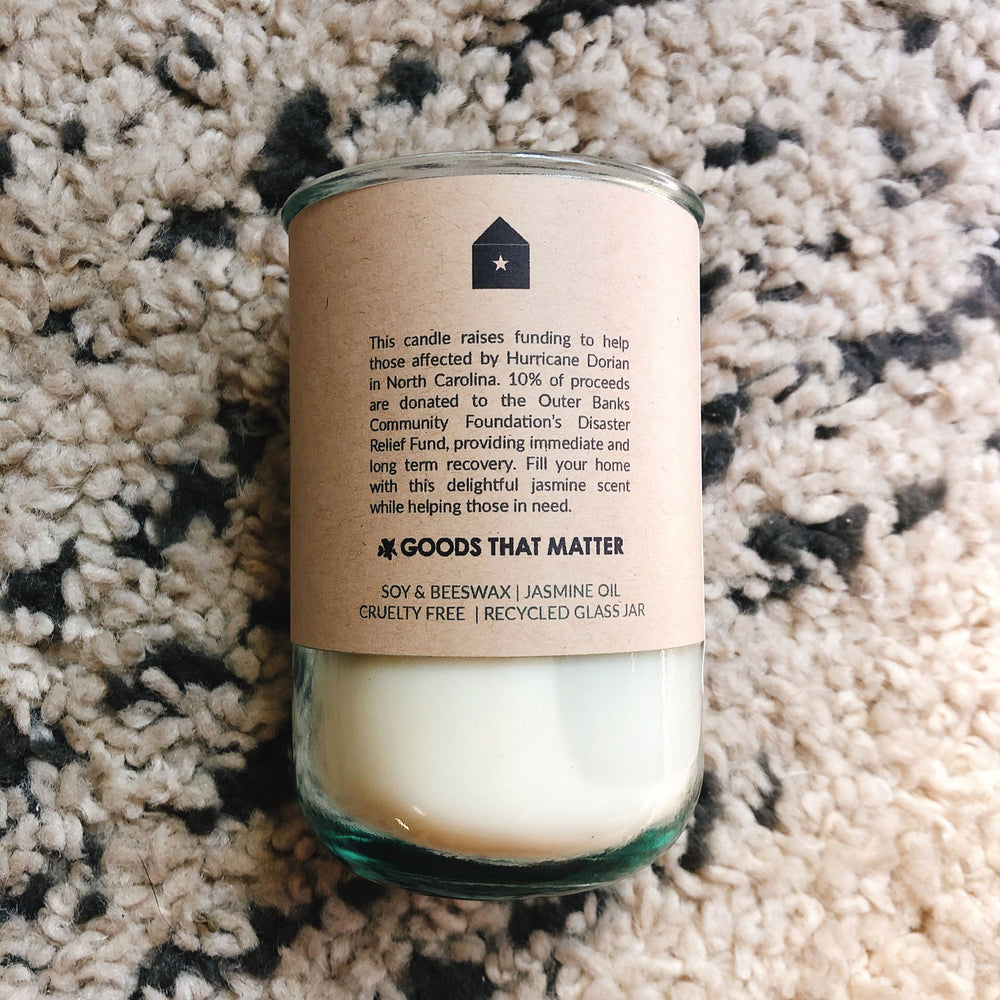 North Carolina Disaster Relief / Jasmine Scent: Candles for Good