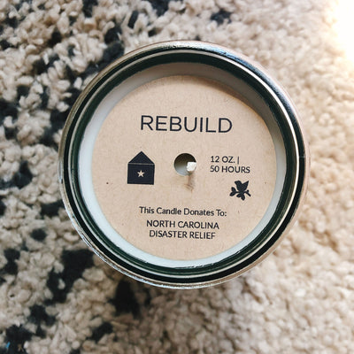 Rebuild, North Carolina Disaster Relief / Jasmine Scent: Candles for Good