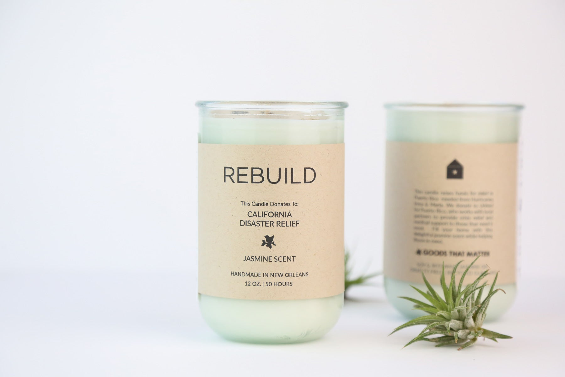 Rebuild, California Wildfire Relief / Jasmine Scent: Candles for Good