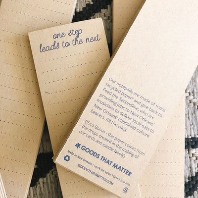 100% Recycled Notepad - Gives to Feed the Second Line