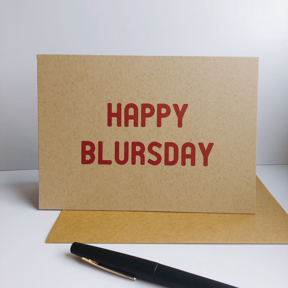 Happy Blursday - Greeting Cards