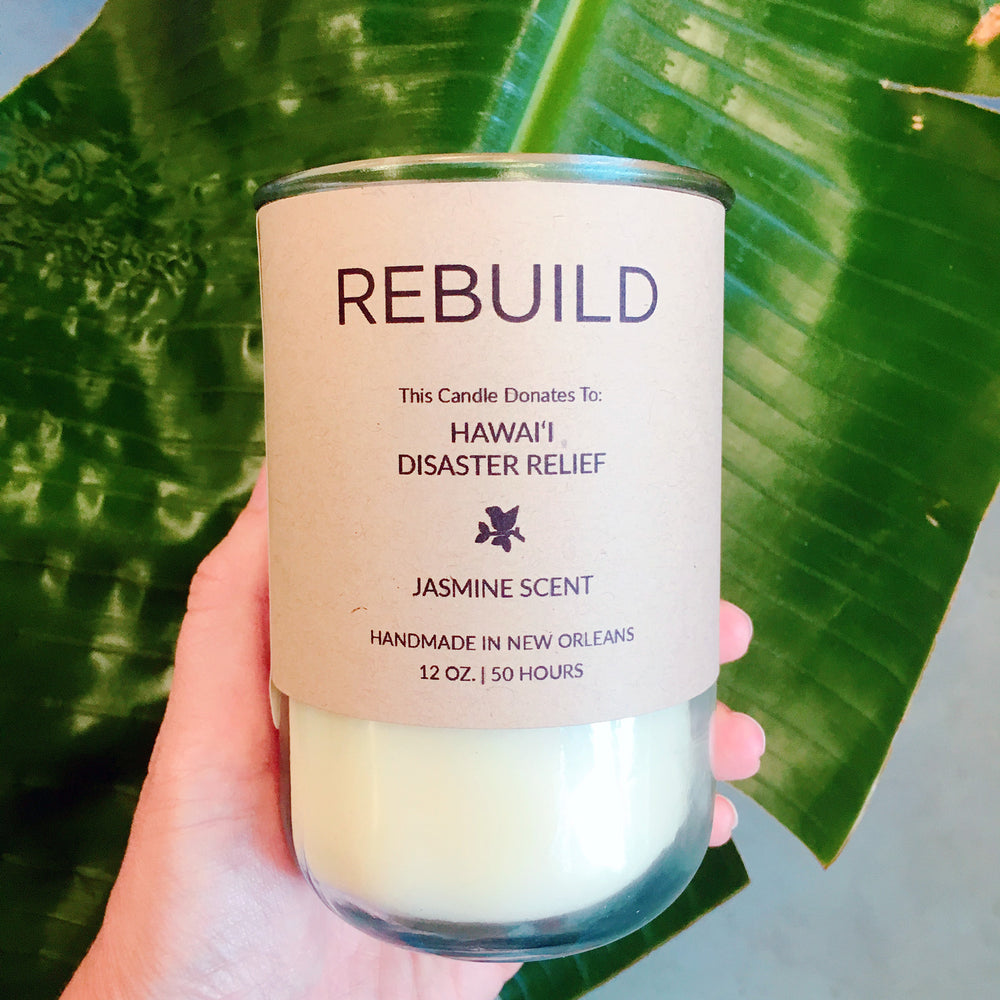 Rebuild, Hawai'i Lava Flow Relief / Jasmine Scent: Candles for Good