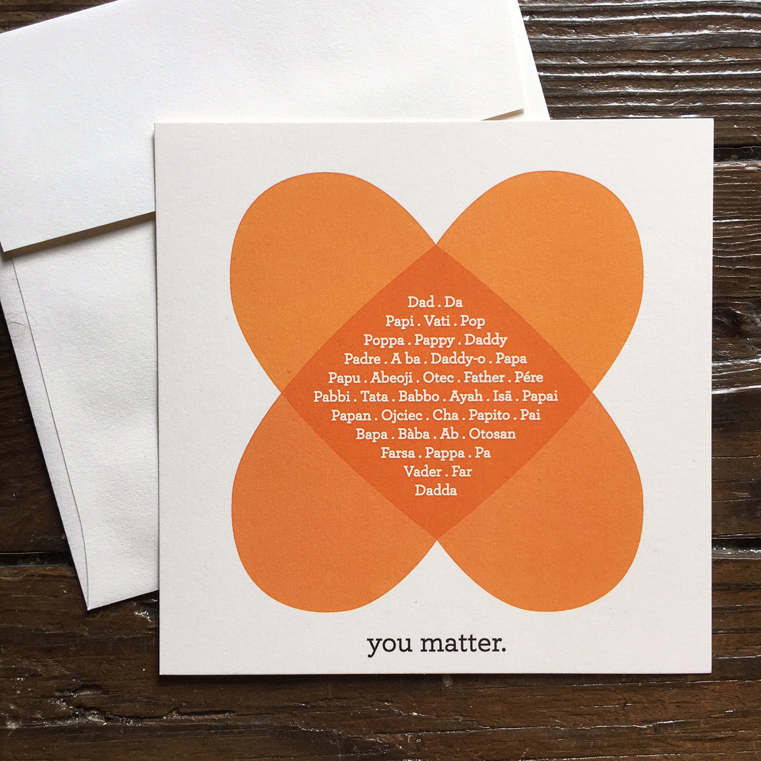 Dads Matter. Father's Day Card