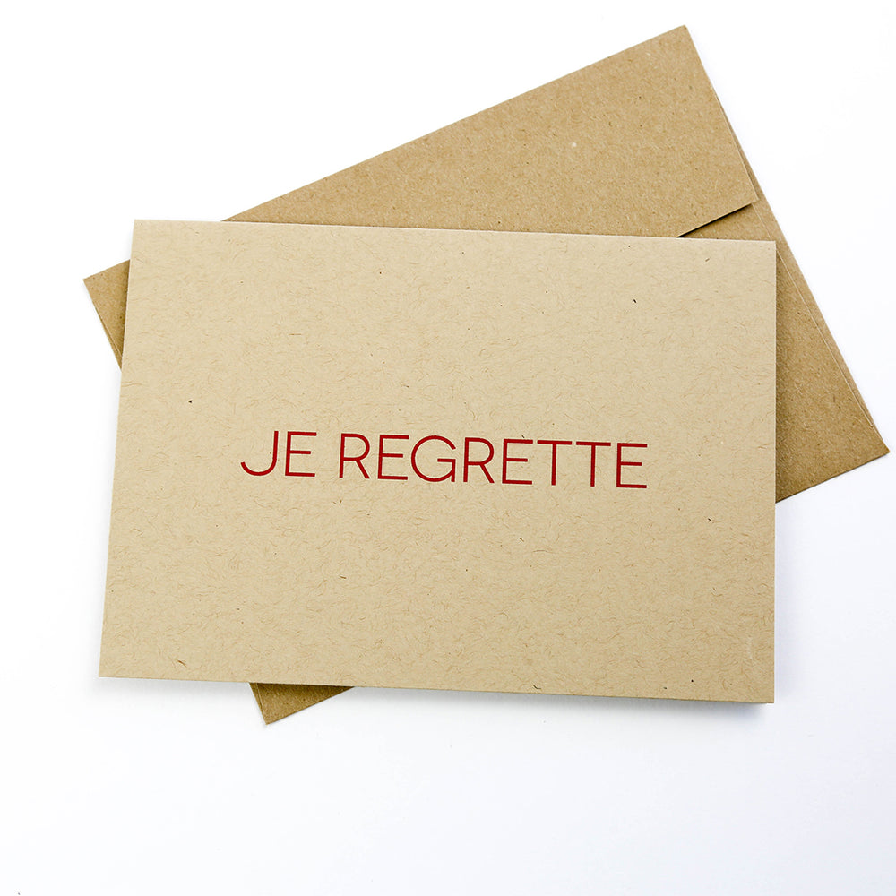 Je Regrette - Greeting Card